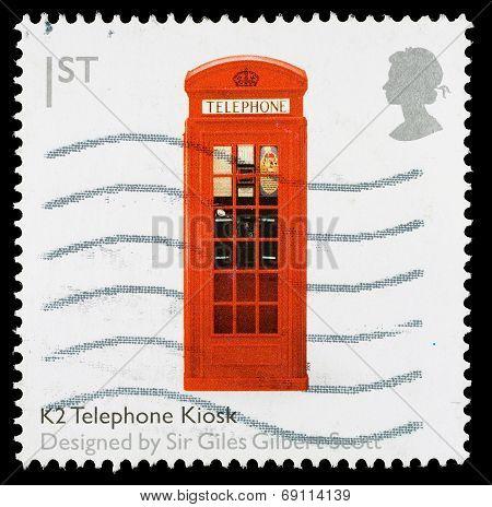 Britain Red Telephone Box Postage Stamp
