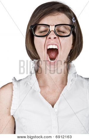 Geeky Female Yawning
