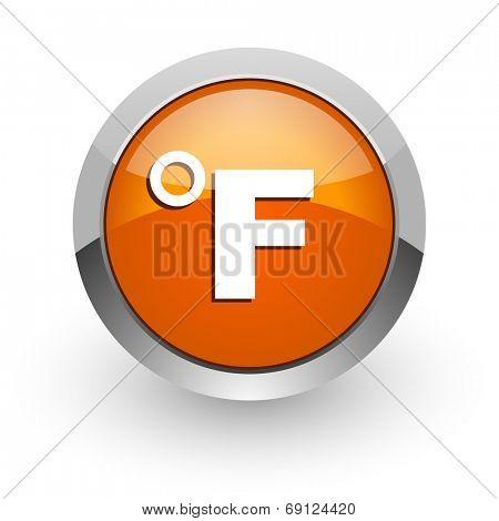 fahrenheit orange glossy web icon