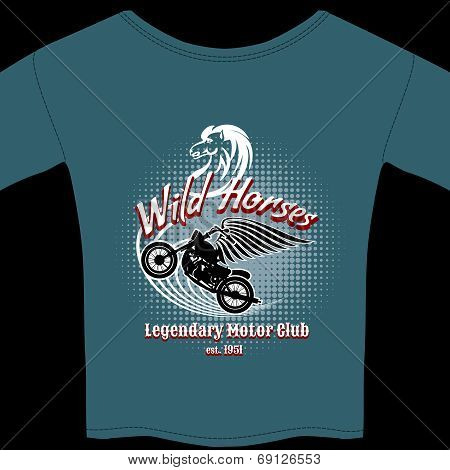 Motor Club t-shirt membership design