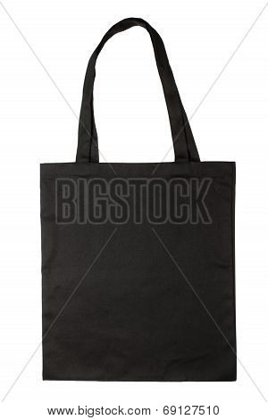 Blank fabric bag isolated on white background