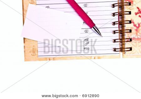 Diary And Card