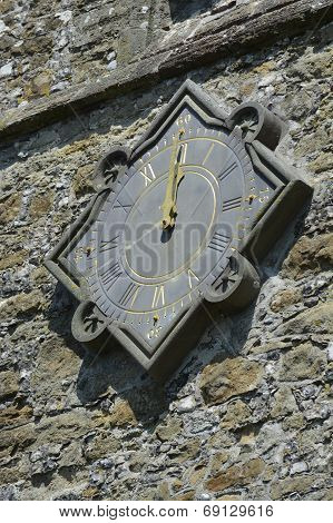 Church Clock At Midday