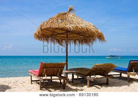 Beautiful Tropical Beach , Cambodia .