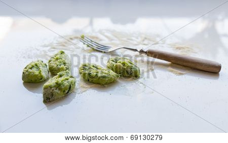 Gnocchi With Wild Garlic Is Prepared