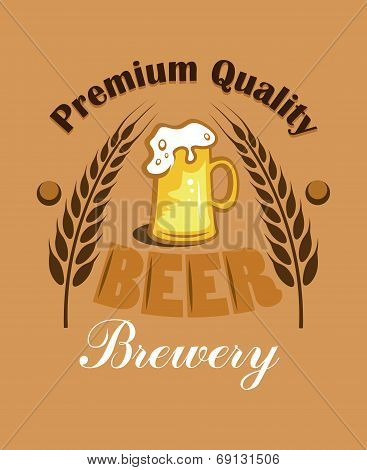Premium Quality Beer - Brewery label
