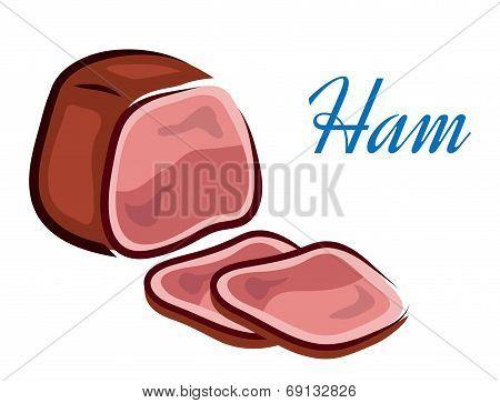 Pieces of ham