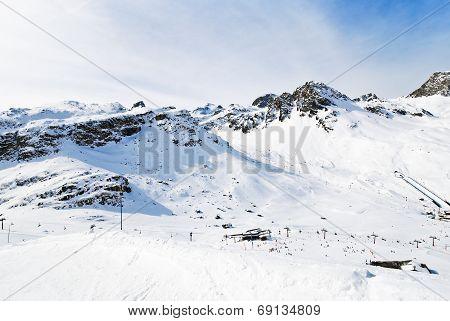 Mountains Near Town Tighnes In Paradiski, France