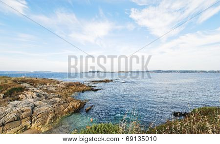 View Of Bay Of Biscay Near La Coruna Town, Spain