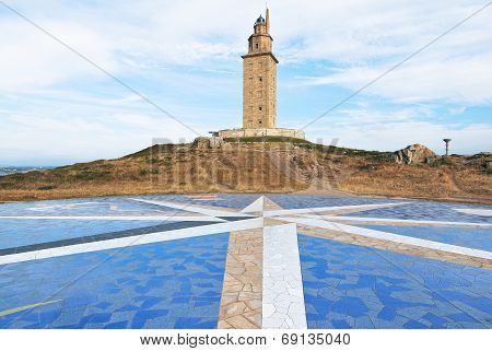 Lighthouse Tower Of Hercules, La Coruna, Galicia