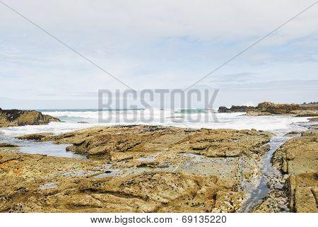 Coastline Of Atlantic Ocean In Costa Da Morte, Spain
