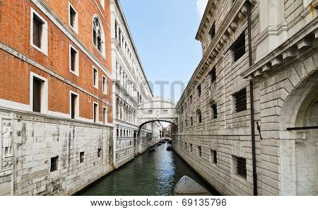 View Of Bridge Of Sighs In Venice,