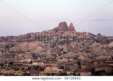 amazing view of Goreme in Cappadocia at sunrise