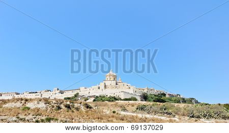 Citadella Fortified City On Gozo Island, Malta