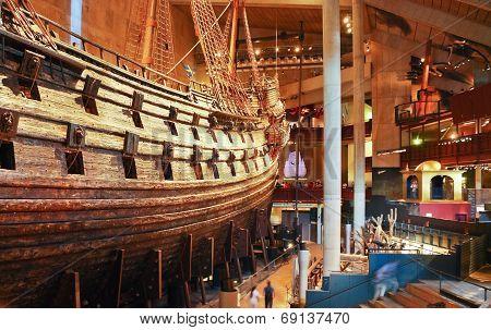 Main Hall Of Vasa Museum In Stockholm, Sweden