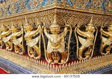 Decorations Of The Ubosoth, Bangkok, Thailand
