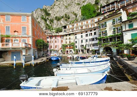 Waterfront In Town Limone Sul Garda, Lake Garda