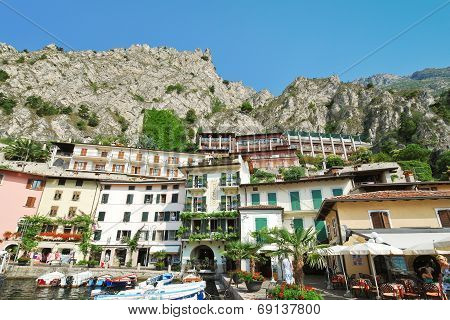 Urban Center Of Town Limone Sul Garda, Lake Garda