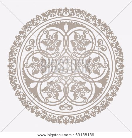 Traditional floral islamic ornament