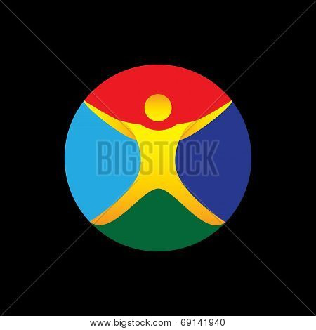 Yoga, Fitness, Wellness, Exercise Icon - Concept Vector Graphic