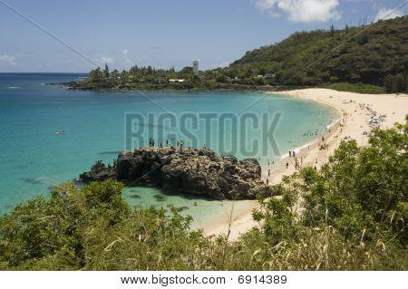 Waimea Beach In Oahu, Hawaii. North Shore