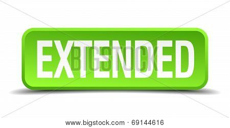 Extended Green 3D Realistic Square Isolated Button