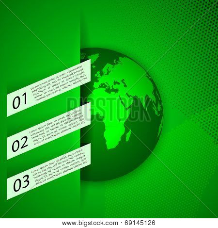 Global warming abstract background. Eco signs  illustration