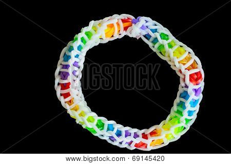 Rubber Bands  With Colorful Fashion Bracelet