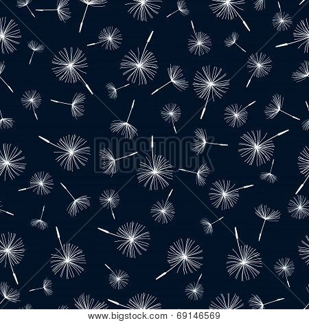 Seamless Pattern With Dandelion Fluff