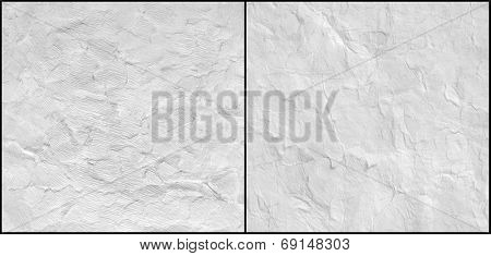 Paper texture. White paper sheet. Set