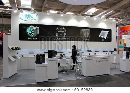 Hannover, Germany - March 13: The Stand Of Deep Cool On March 13, 2014 At Cebit Computer Expo, Hanno