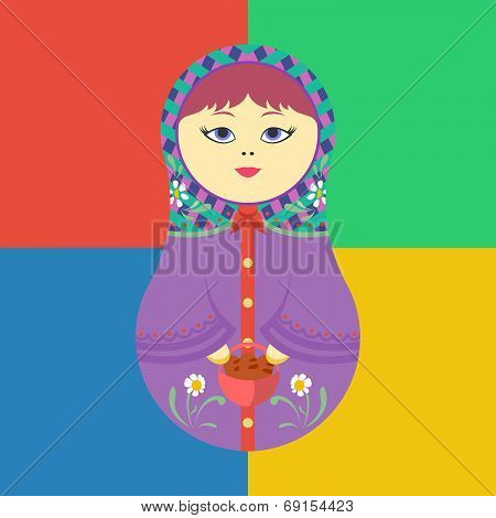 Russian Matreshka Vector Illustration