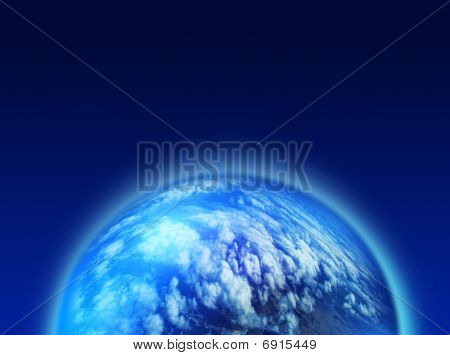 Blue Cloudy Planet