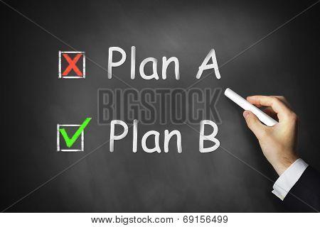 Plan A B Chlakboard Checkbox