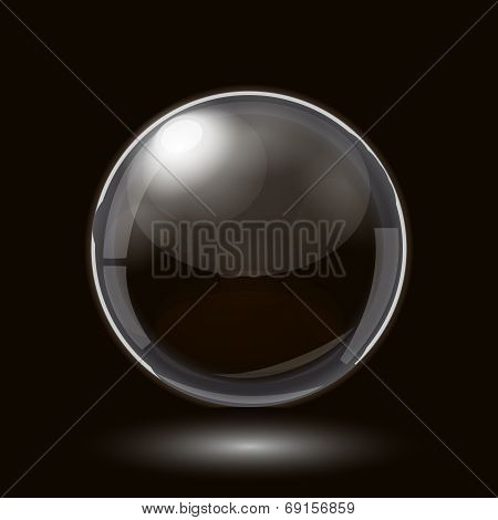 Abstract Design with Glass Sphere
