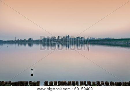 Mantova skyline at dusk - Italy