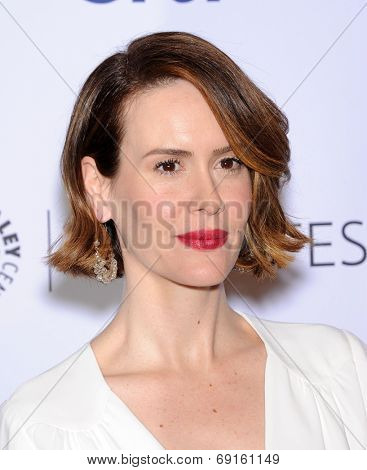 LOS ANGELES - MAR 28:  Sarah Paulson arrives to the Paleyfest 2014: American Horror Story COVEN  on March 28, 2014 in Hollywood, CA