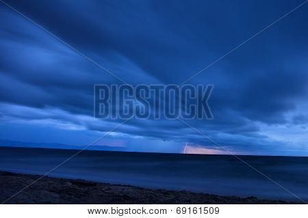 Thunderstorm at the beach