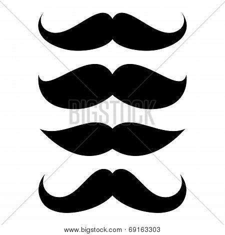 Set of mustache