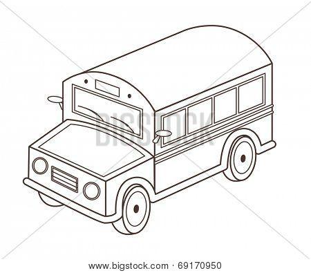 toy school bus (vector illustration)