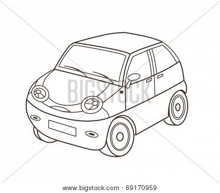 toy automobile (vector illustration)