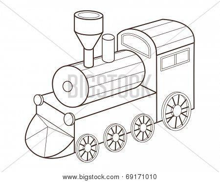 cute toy train (vector illustration)