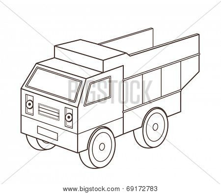 toy dump truck (vector illustration)