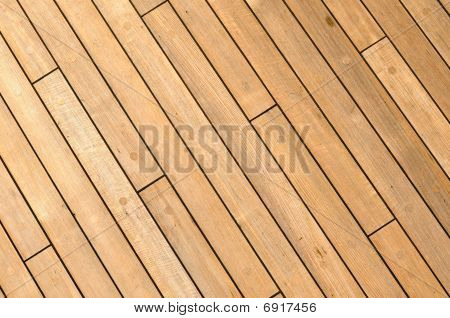 Diagonal Wooden Ship Deck Background