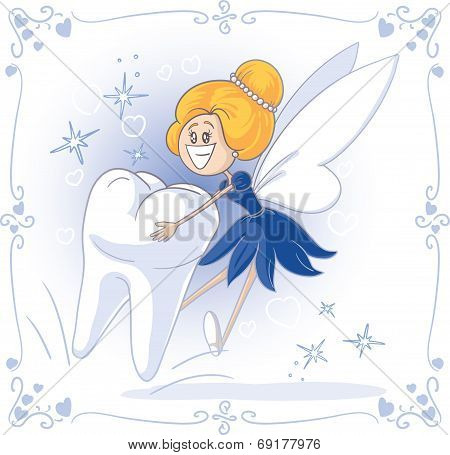 Tooth Fairy Vector Cartoon