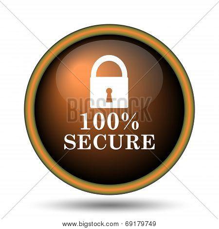 100 Percent Secure Icon
