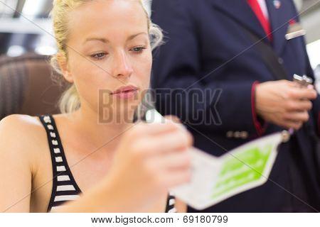 Train ticket check.