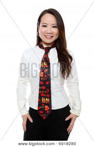 Valentines Day Tie And Woman