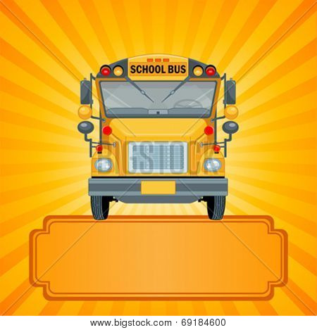 Illustration of American school bus