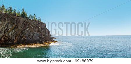 Panorama Of Ocean Shore